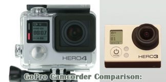 GoPro Camcorder comparison - GoPro Hero 3 vs GoPro Hero 4