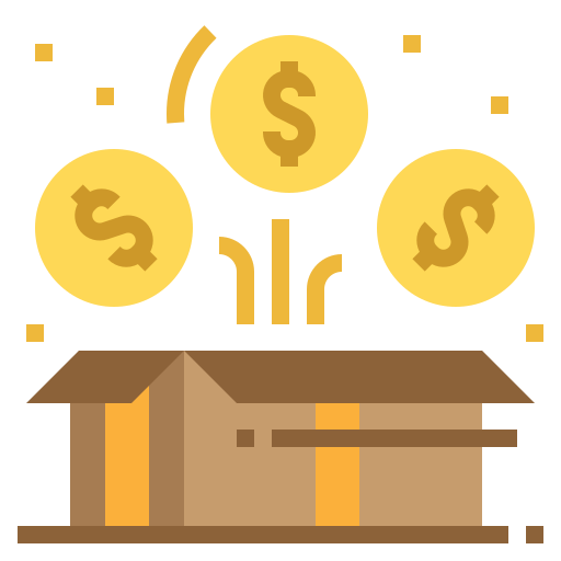 box and dollar sign illustrating bonus