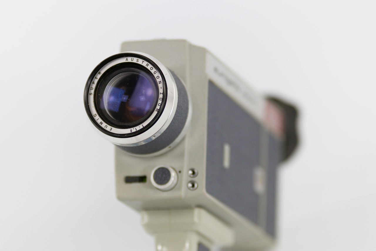 close up photo of white camera